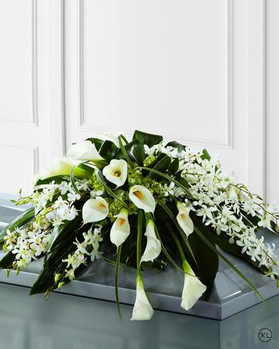 Callay-Lily-and-Orchid-Casket-Spray-1-Funeral-Flowers-London