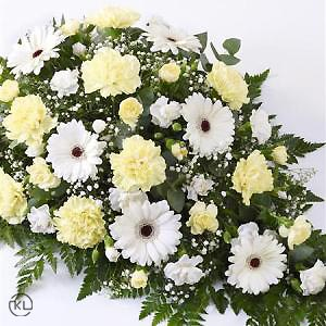 Carnation-and-Germini-Spray-2-Yellow-and-White-Funeral-Flowers-London-300x300