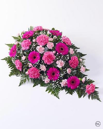 Carnation-and-Germini-Teardrop-Spray-Pink-1-Funeral-Flowers-London