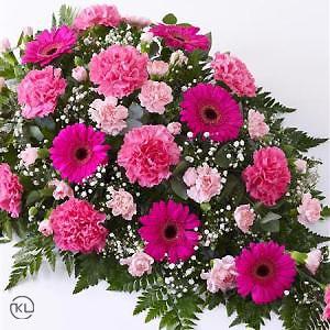 Carnation-and-Germini-Teardrop-Spray-Pink-2-Funeral-Flowers-London-300x300