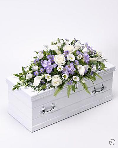 Childrens-Casket-Spray-Blue-and-Lilac-1-Funeral-Flowers-London