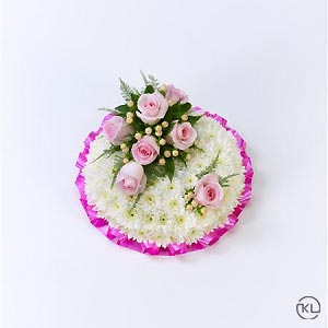 Classic-Pink-and-White-Posy-1-Funeral-Flowers-London-300x300
