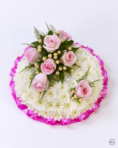 Classic-Pink-and-White-Posy-1-Funeral-Flowers-London