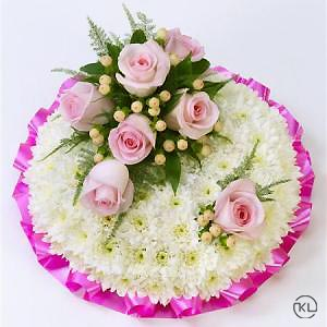 Classic-Pink-and-White-Posy-2-Funeral-Flowers-London-300x300
