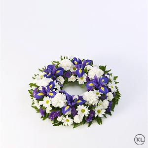 Classic-Selection-Wreath-Blue-and-White-1-Funeral-Flowers-London-300x300