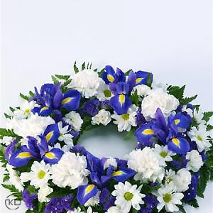 Classic-Selection-Wreath-Blue-and-White-2-Funeral-Flowers-London-300x300