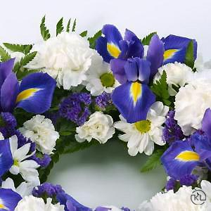 Classic-Selection-Wreath-Blue-and-White-3-Funeral-Flowers-London-300x300