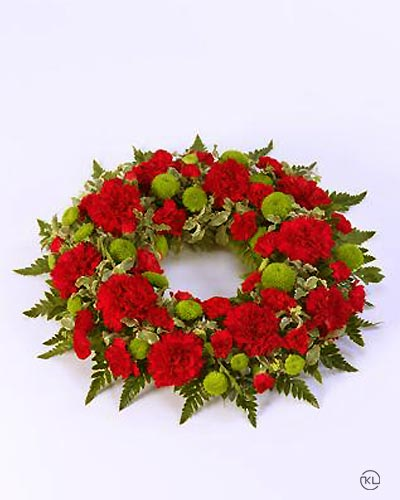 Classic-Selection-Wreath-Red-and-Green-1-Funeral-Flowers-London