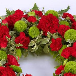 Classic-Selection-Wreath-Red-and-Green-3-Funeral-Flowers-London-300x300
