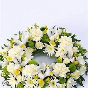Classic-Selection-Wreath-Yellow-and-Cream-2-Funeral-Flowers-London-300x300