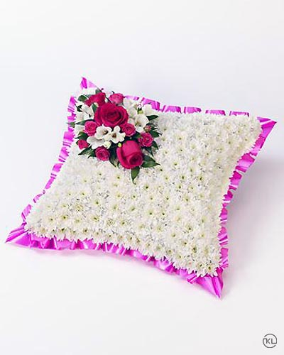 Classic-White-Cushion-1-Funeral-Flowers-London