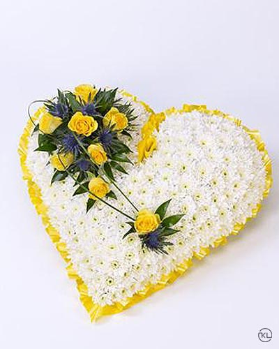 Classic-White-Heart-with-Yellow-Roses-1-Funeral-Flowers-London