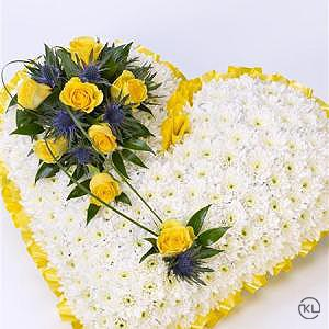 Classic-White-Heart-with-Yellow-Roses-2-Funeral-Flowers-London-300x300