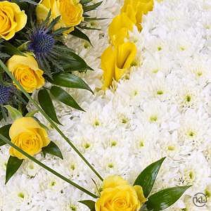 Classic-White-Heart-with-Yellow-Roses-3-Funeral-Flowers-London-300x300