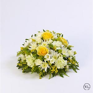 Classic-Yellow-and-White-Posy-1-Funeral-Flowers-London-300x300