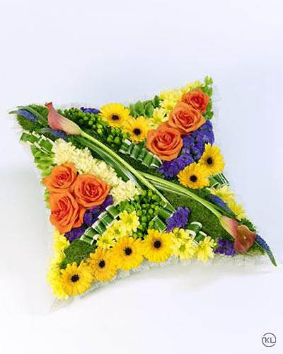 Contemporary-Cushion-Vibrant-1-Funeral-Flowers-London