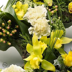 Double-Heart-Tribute-Yellow-3-Funeral-Flowers-London-300x300