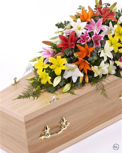 Lily-Casket-Spray-Mixed-Colours1-4ft-1-Funeral-Flowers-London
