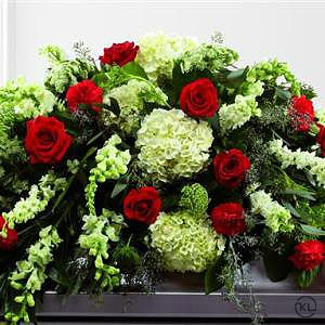 Mixed-Casket-Spray-Red-and-Green-2-Funeral-Flowers-London-300x300