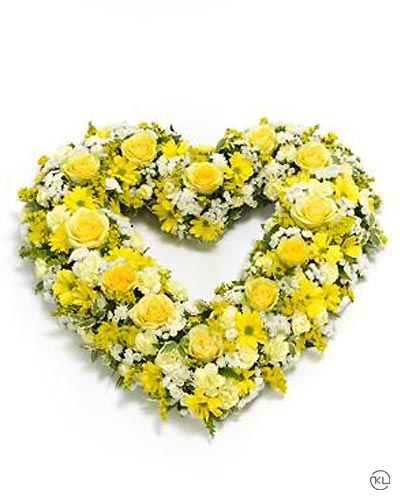 Open-Heart-Yellow-and-White-1-Funeral-Flowers-London
