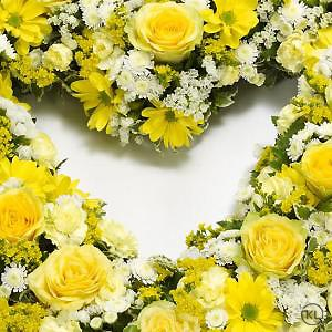 Open-Heart-Yellow-and-White-3-Funeral-Flowers-London-300x300
