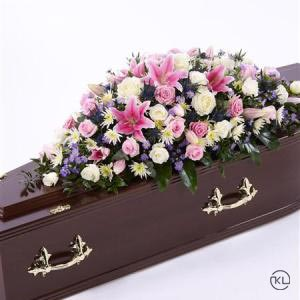 Pink-Rose-and-Eryngium-Casket-Spray-3ft-2-Funeral-Flowers-London-300x300
