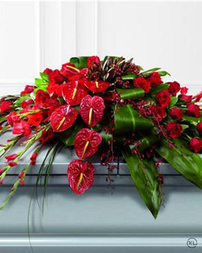 Rose-Orchid-and-Anthurium-Casket-Spray-1-Funeral-Flowers-London1