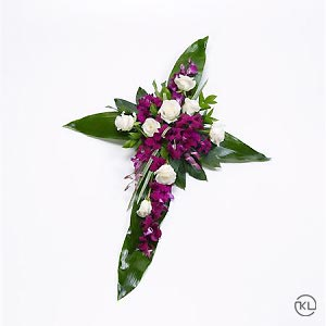 Rose-and-Aspidistra-Cross-1-Funeral-Flowers-London-300x300