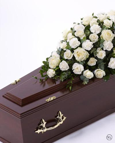Rose-and-Carnation-Casket-Spray-1-White-3ft-Funeral-Flowers-London