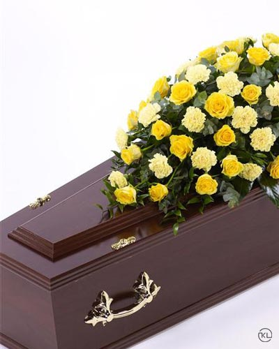 Rose-and-Carnation-Casket-Spray-1-Yellow-3ft-Funeral-Flowers-London