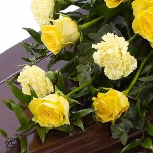 Rose-and-Carnation-Casket-Spray-3-Yellow-3ft-Funeral-Flowers-London-300x300