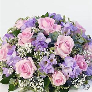 Rose-and-Freesia-Posy-Pink-and-Lilac-2-Funeral-Flowers-London-300x300