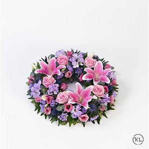 Rose-and-Lily-Pink-Lilac-Wreath-1-Funeral-Flowers-London-300x300