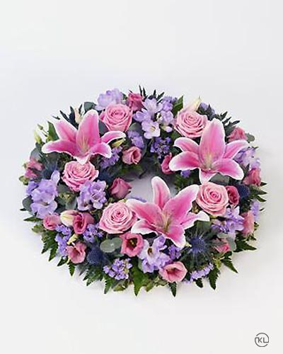 Rose-and-Lily-Pink-Lilac-Wreath-1-Funeral-Flowers-London