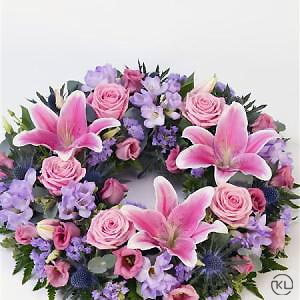 Rose-and-Lily-Pink-Lilac-Wreath-2-Funeral-Flowers-London-300x300