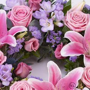 Rose-and-Lily-Pink-Lilac-Wreath-3-Funeral-Flowers-London-300x300