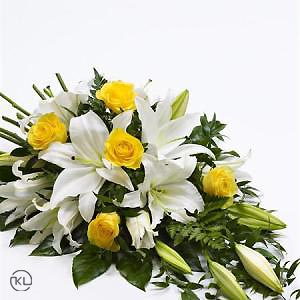 Rose-and-Lily-Spray-Yellow-and-White-2-Funeral-Flowers-London-300x300