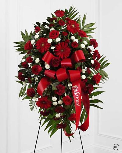 Standing-Spray-Red-1-Funeral-Flowers-London