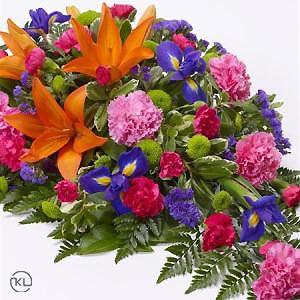 Vibrant-Lily-and-Iris-Teardrop-Spray-2-Funeral-Flowers-London-300x300
