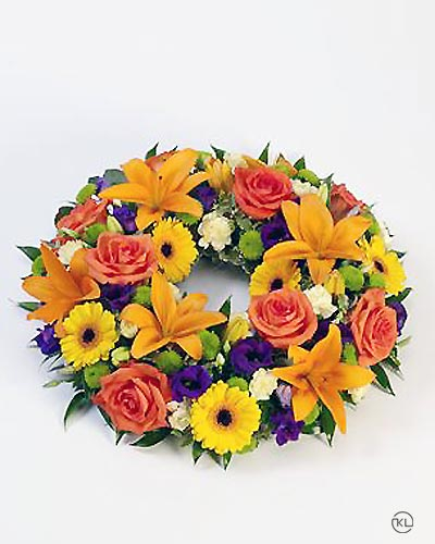 Vibrant-Rose-and-Lily-Wreath-1-Funeral-Flowers-London