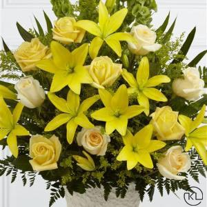 Yellow-Lily-and-Rose-Service-Arrangement-2-Funeral-Flowers-London-300x300