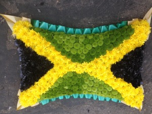 Jamaican Flag Floral Pillow