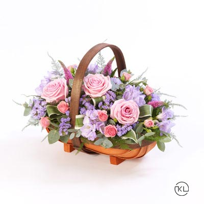 Pink-and-Lilac-Basket-1-Funeral-Flowers-Londonc
