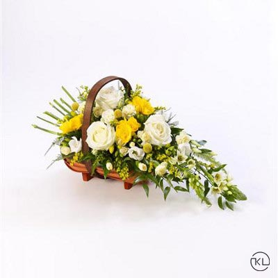 Rose-and-Freesia-Basket-1-Funeral-Flowers-London1