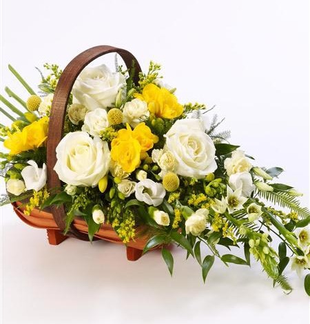 Rose-and-Freesia-Basket-2-Funeral-Flowers-London