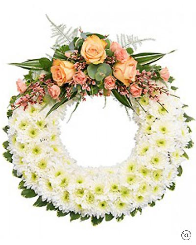 Classic-Orange-Rose-and-Chrysanthemum-Wreath