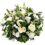White Rose Posy by Funeral Flowers London