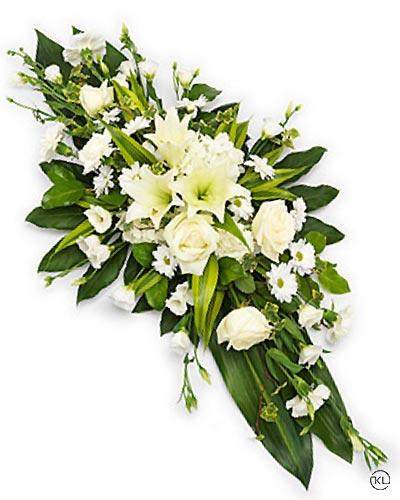 White-lily-Double-ended-Casket-Spray